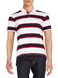 Victorinox Hydro Striped Polo Shirt Classic White
