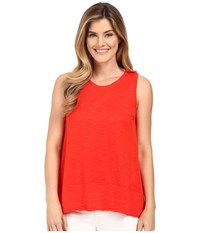 Lilla P Pima Modal Slub Sleeveless Shell Poppy Women's Sleeveless Red