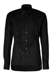 Ermanno Scervino Embroidered Cotton Top Blue