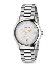 Gucci G Timeless Stainless Steel Watch Silver