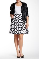 Amanda And Chelsea Contemporary Circle Skirt Plus Size White