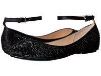 Blue By Betsey Johnson Joy Black Satin Women's Flat Shoes