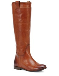 Frye Paige Leather Riding Boots Cognac