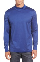 Men's Bugatchi Long Sleeve Mock Neck T Shirt Royal