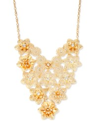Inc International Concepts M. Haskell For Inc Gold Tone Floral Crystal Bib Necklace Only At Macy's