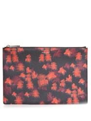 Givenchy Floral Print Pouch Red Multi