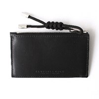 Campbell Cole Black Simple Coin Pouch