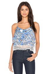Eight Sixty Provence Crop Top Blue