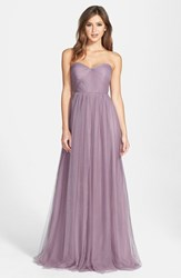 Women's Jenny Yoo 'Annabelle' Convertible Tulle Column Dress Lilac