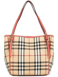 Burberry 'Horseferry' Tote Pink And Purple