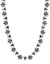 Ivanka Trump Cubic Zirconia Epoxy And 10K Gold Plated Tier Necklace Blue