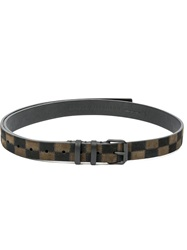 Haider Ackermann Checkboard Belt Black