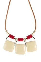 Marni Triple Pendant Necklace Multicolor