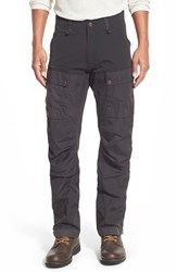 Fjall Raven Men's Fj Llr Ven 'Keb' Trekking Pants Black Dark Grey