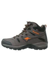 Kangaroos Walking Boots Dark Brown Orange