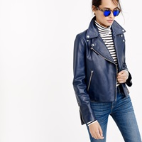 J.Crew Pre Order Collection Leather Motorcycle Jacket