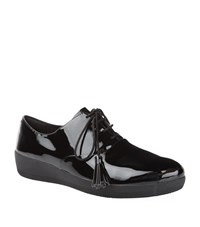 Fitflop Classic Tassel Superoxford Patent Shoes Female Black