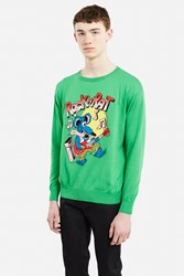 Jeremy Scott Rock N Rat Sweater Fantasy Print Green