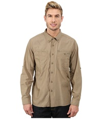 Exofficio Triflex Hybrid Long Sleeve Top Walnut Walnut Men's Long Sleeve Button Up Brown