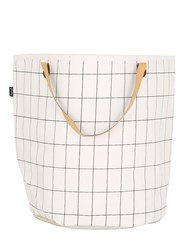 Ferm Living Grid Hand Printed Laundry Basket