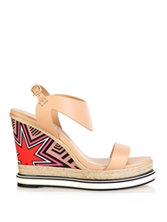 Nicholas Kirkwood Leather And Silk Espadrille Sandals