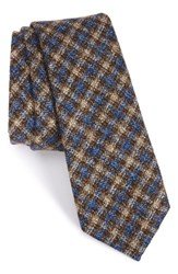 Alexander Olch Men's 'Francisco' Check Wool Tie Yellow Multi