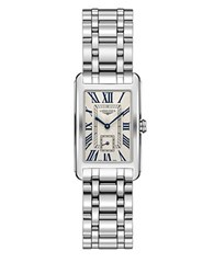 Longines Dolcevita Rectangular Stainless Steel Bracelet Watch Silver