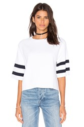 Autumn Cashmere Boxy Crew Neck Sweater White