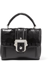 Paula Cademartori Dun Dun Snake Effect Paneled Leather Tote Black