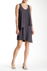 Lilla P Stretch Jersey Double Layer Tank Dress Gray