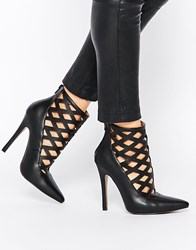 Truffle Collection Skye Cut Out Heeled Shoes Black