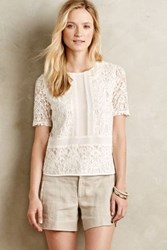 Sunday In Brooklyn Ellis Lace Top White