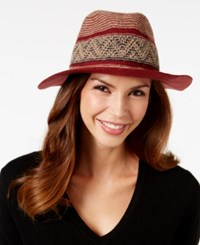 Bcbgeneration Global Panama Hat Wine Red
