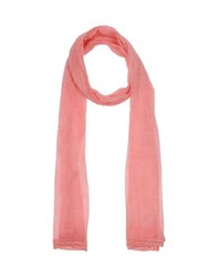 Scee By Twin Set Accessories Oblong Scarves Women Salmon Pink