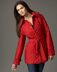 Neiman Marcus Belted Lightweight Quilted Jacket Small 4