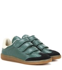 Isabel Marant Etoile Beth Leather And Suede Sneakers Green