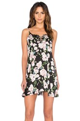 Minkpink Night Garden Nightie Black
