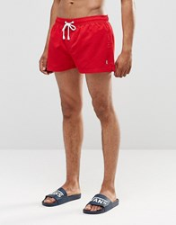 Ringspun Shortie Shorts Co Ord Red
