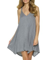 Felina Endless Summer Solid T Back Chemise Heather Charcoal