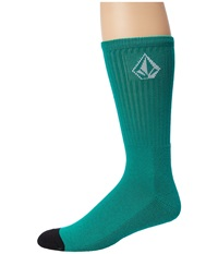 Volcom Full Stone Sock Lawn Green Men's Crew Cut Socks Shoes