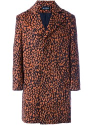 Misbhv Leopard Print Coat Yellow Orange