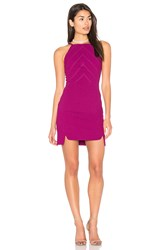 Greylin Hilary Double Slit Dress Fuchsia