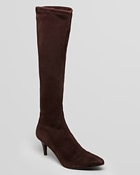Delman Pointed Toe Boots Lilia Dark Brown