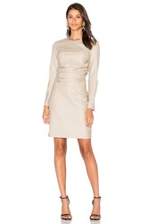 Cacharel Wool Shift Dress Beige