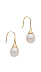 Juliet And Company Classic Drop Earrings Pearl Gold