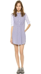 Steven Alan Atlas Shirtdress Blue Pin