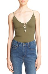 Women's Free People Lace Up Rib Knit Camisole