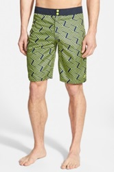 Speedo 'Linear Links' Reversible Board Shorts Green