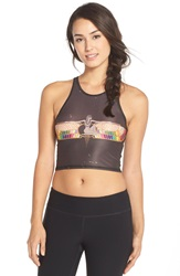 Teeki 'Rainbow Priestess Mermaid' Crop Tank Black Brown