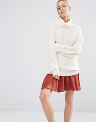 Gestuz Claudia Jumper With Bell Sleeves Cloud White